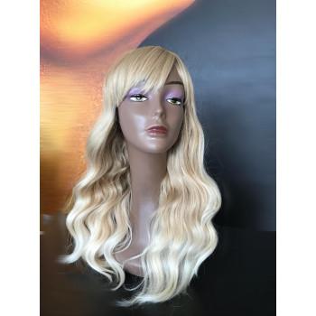 Peruca cu breton wave blonde