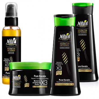 Set Natural Formula Keratin Intense: Sampon, Balsam, Masca...