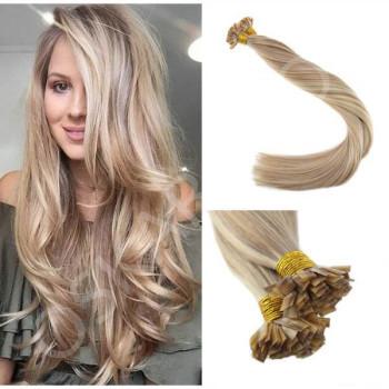Extensii cheratina DeLuxe Blond Suvitat #18 #60