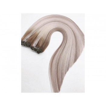 Clip On DeLuxe Drept Black Collection Balayage #9A/ Light Grey