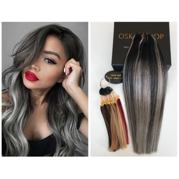 Extensii Clip-On DeLuxe Balayage #1B Grey