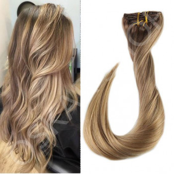 Clip On DeLuxe Ondulat Black Collection Balayage #7 #18L