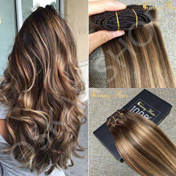 Clip On DeLuxe Ondulat Black Collection Balayage Saten Suvitat #6 #24