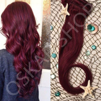 Clip On DeLuxe Ondulat Black Collection Burgundy