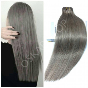 Clip On DeLuxe Ondulat Black Collection Metallic Grey