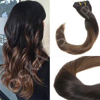 Clip On Premium Drept Black Collection Ombre #1B Cu #7
