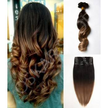 Clip On DeLuxe Ondulat Black Collection Ombre #3 cu #8
