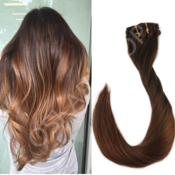 Clip On DeLuxe Ondulat Black Collection Ombre #3 #8N