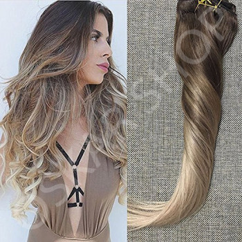 Clip On Premium Drept Black Collection Ombre #7 #22