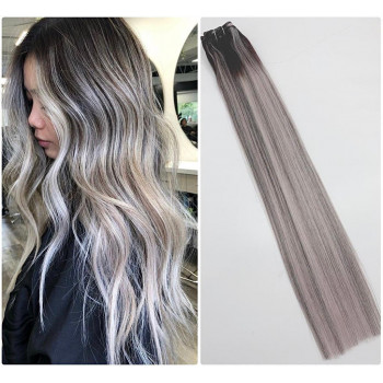 Extensii Clip-On DeLuxe Balayage #1B Brilliant Grey