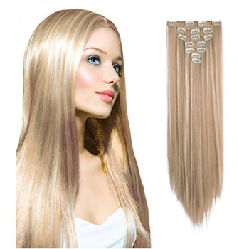 Clip-On Drept Sintetic Blond Suvitat