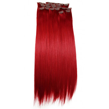 Clip-On Drept Sintetic Red