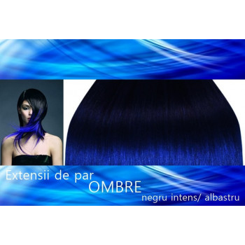 Front lace  Ombre Negru Intens / Albastru