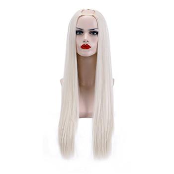 Semiperuca Par Natural U Part Blond Alb Drept