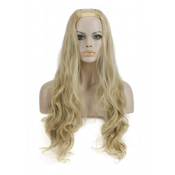 Semiperuca Par Natural U Part Blond Bej Ondulat