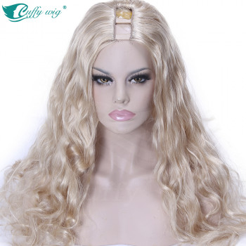Semiperuca Par Natural U Part Blond Deschis Ondulat
