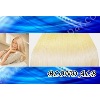 Extensii Front Lace (Semiperuca) DeLuxe Blond Alb