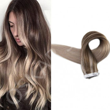 Tape In Black Collection Balayage #7 Light Grey