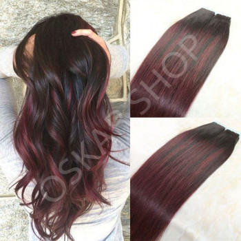 Tape In Black Collection #1B Burgundy