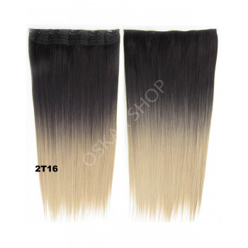 Trese Clip-On Drepte Sintetic Ombre #2 16
